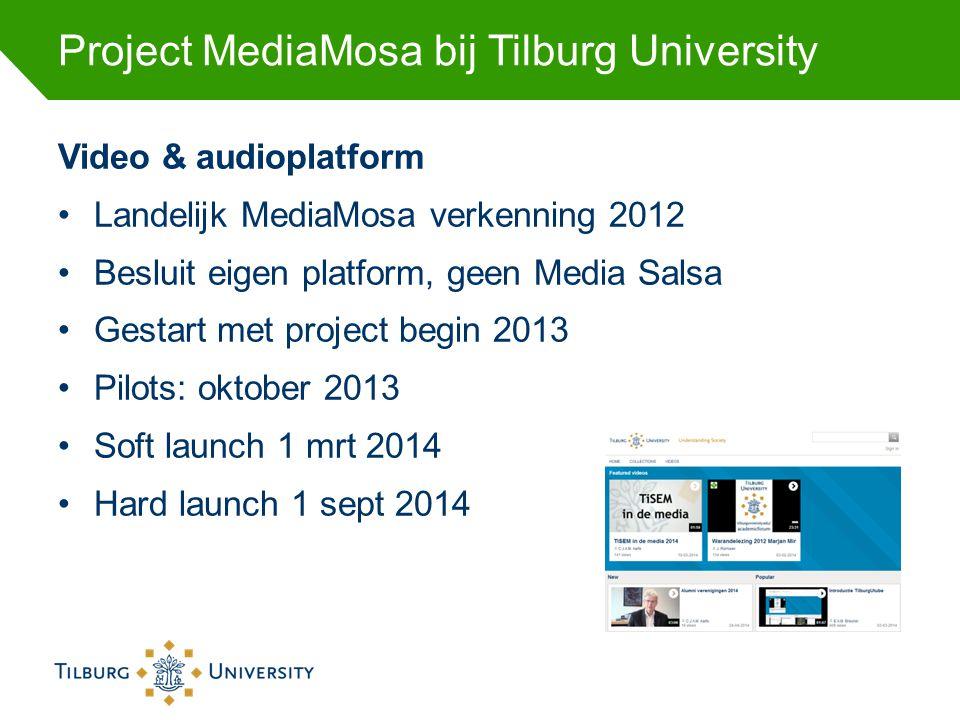 Project MediaMosa bij Tilburg University