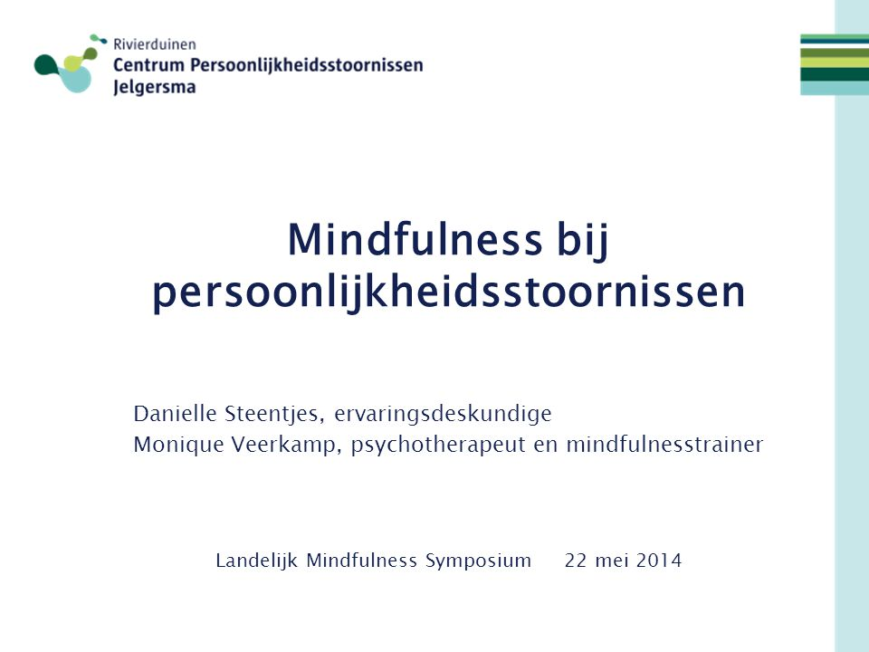 Mindfulness bij persoonlijkheidsstoornissen