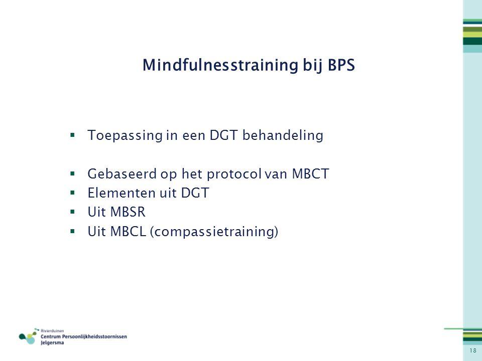 Mindfulnesstraining bij BPS