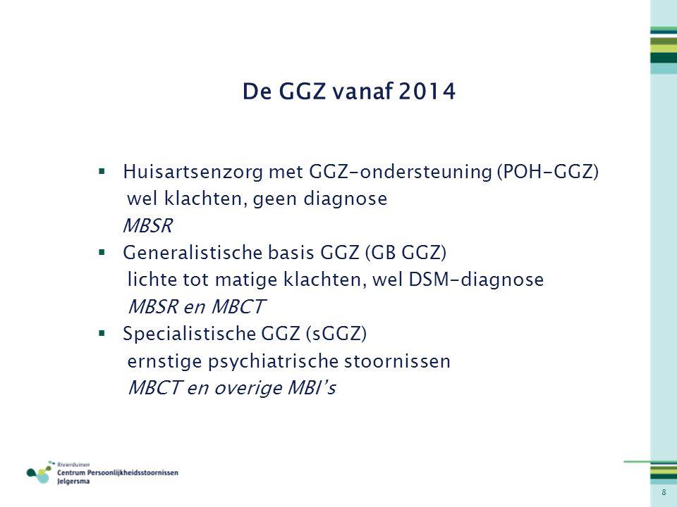 De GGZ vanaf 2014 Huisartsenzorg met GGZ-ondersteuning (POH-GGZ)