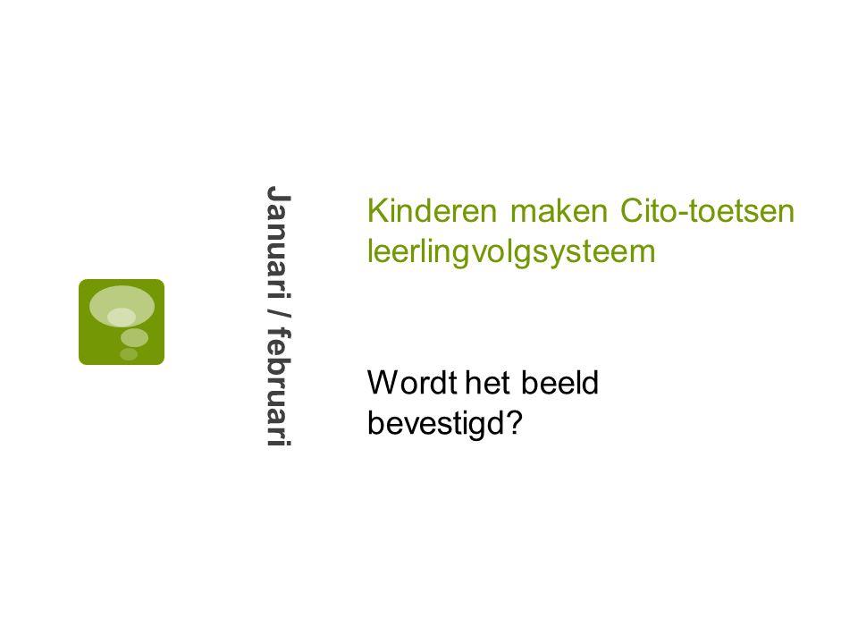 Kinderen maken Cito-toetsen leerlingvolgsysteem