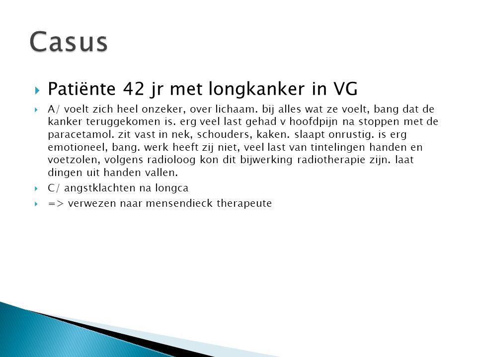 Casus Patiënte 42 jr met longkanker in VG