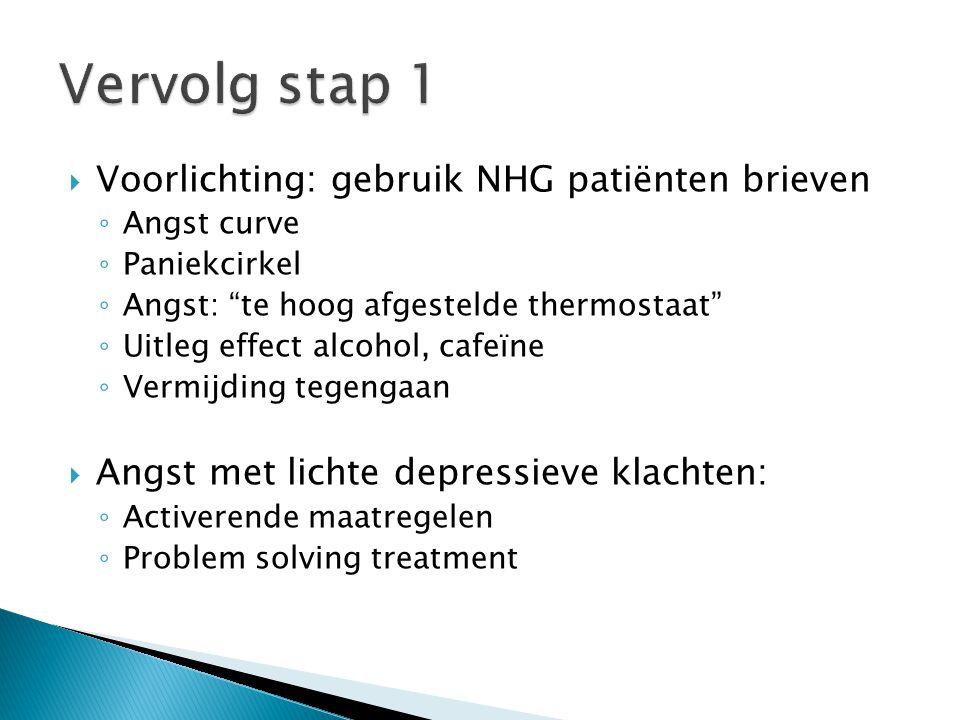 Vervolg stap 1 Voorlichting: gebruik NHG patiënten brieven