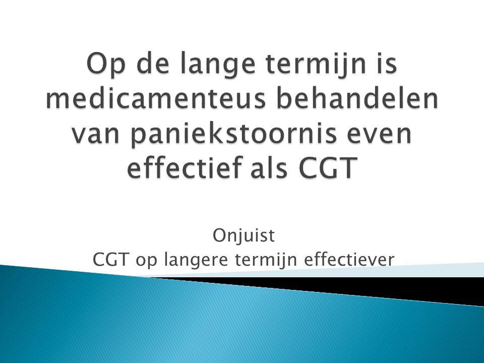 Onjuist CGT op langere termijn effectiever