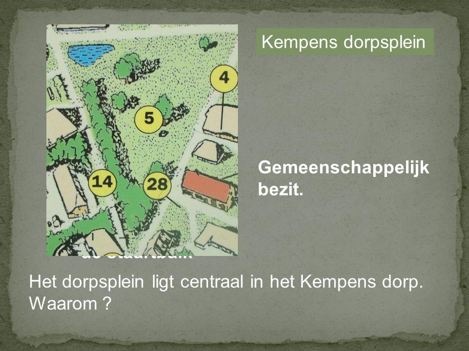 Kempens dorpsplein Gemeenschappelijk. bezit. de staartbalk. Het dorpsplein ligt centraal in het Kempens dorp.