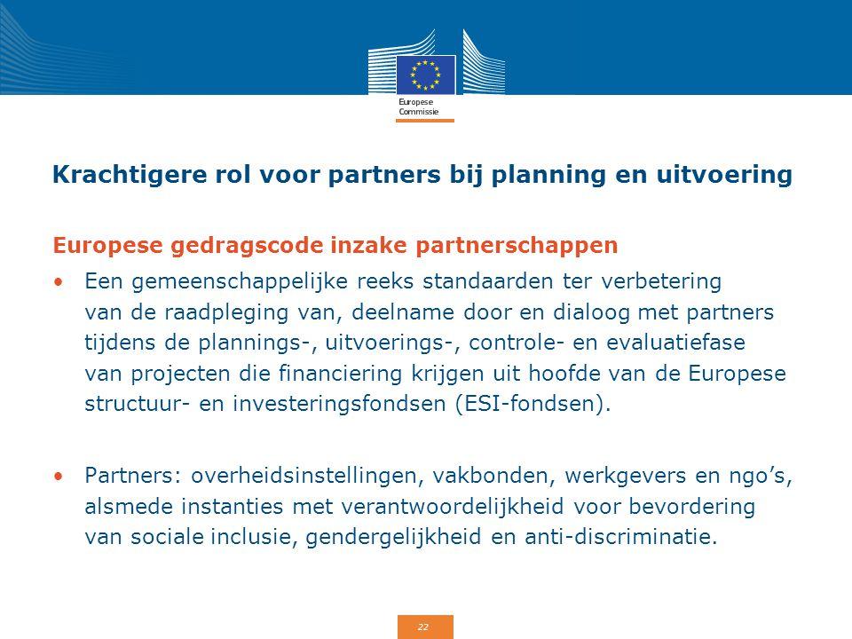 Krachtigere rol voor partners bij planning en uitvoering
