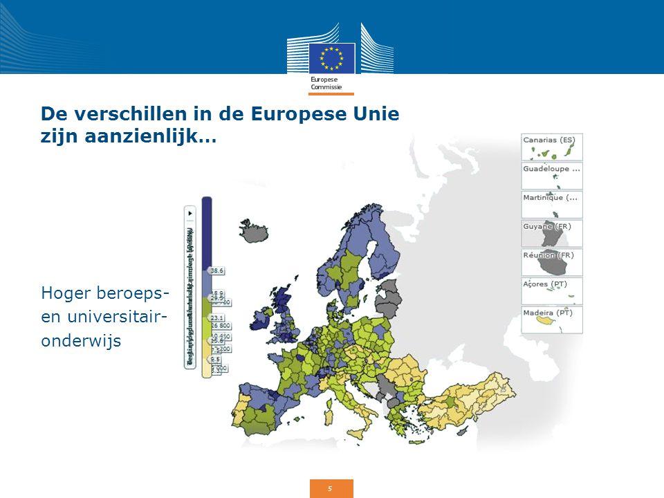 De verschillen in de Europese Unie zijn aanzienlijk…