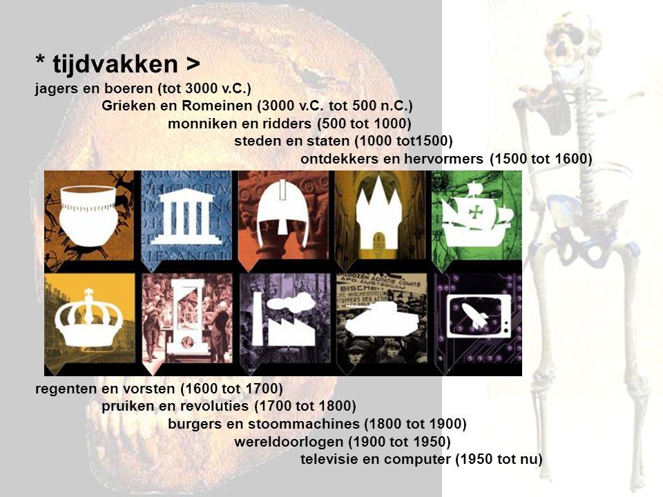 tijdvakken > jagers en boeren (tot 3000 v. C. )