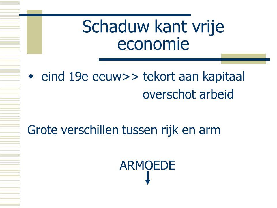 Schaduw kant vrije economie