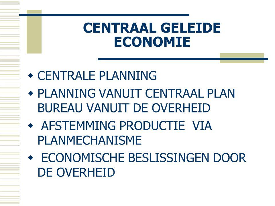 CENTRAAL GELEIDE ECONOMIE