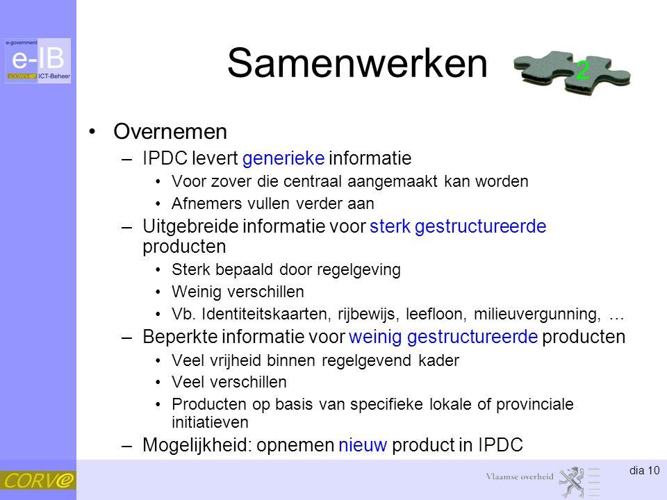 Samenwerken 2 Overnemen IPDC levert generieke informatie
