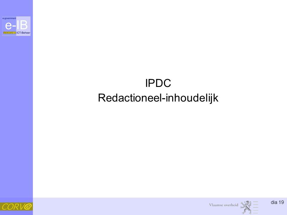 IPDC Redactioneel-inhoudelijk