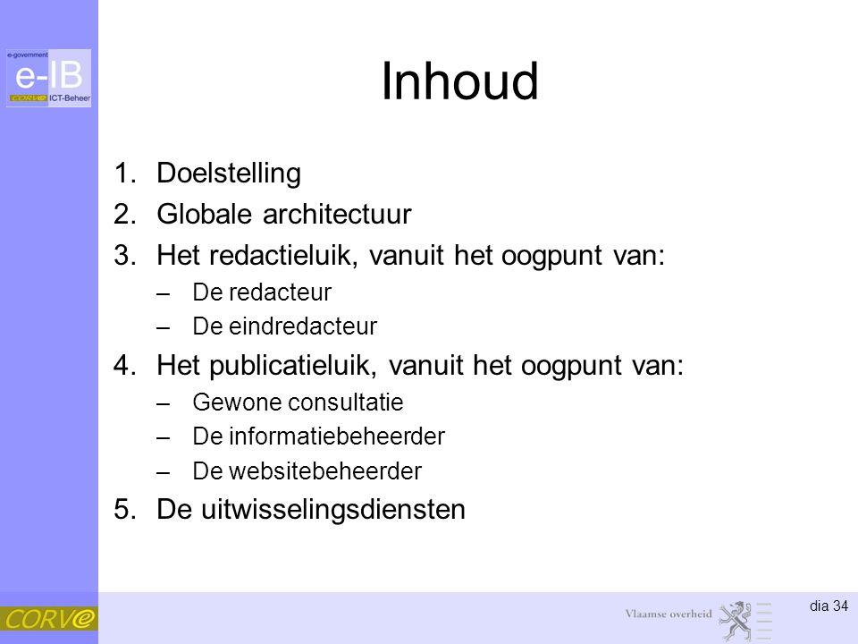 Inhoud Doelstelling Globale architectuur