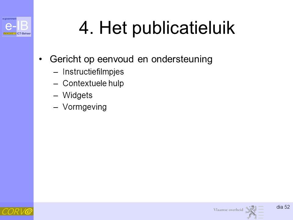4. Het publicatieluik Gericht op eenvoud en ondersteuning