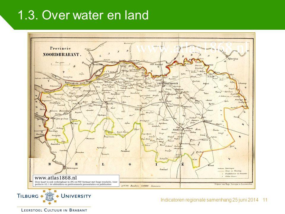 1.3. Over water en land Indicatoren regionale samenhang 25 juni 2014