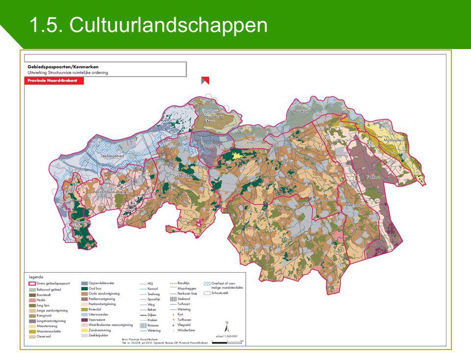 1.5. Cultuurlandschappen Indicatoren regionale samenhang 25 juni 2014