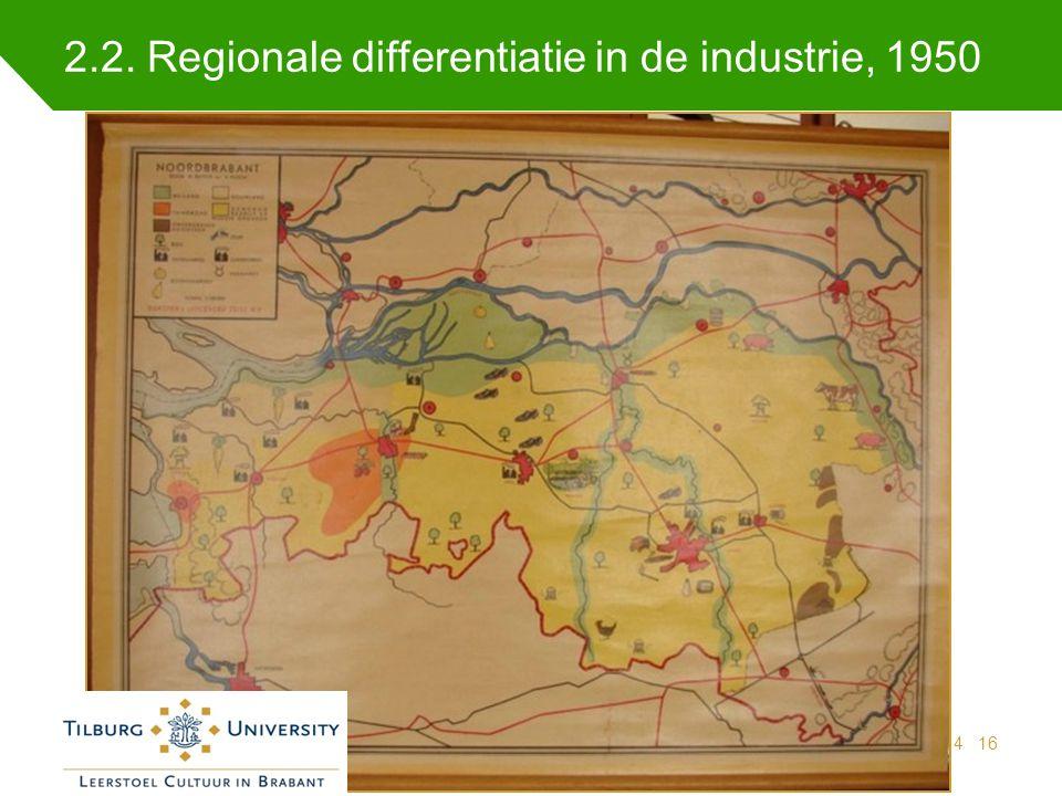 2.2. Regionale differentiatie in de industrie, 1950