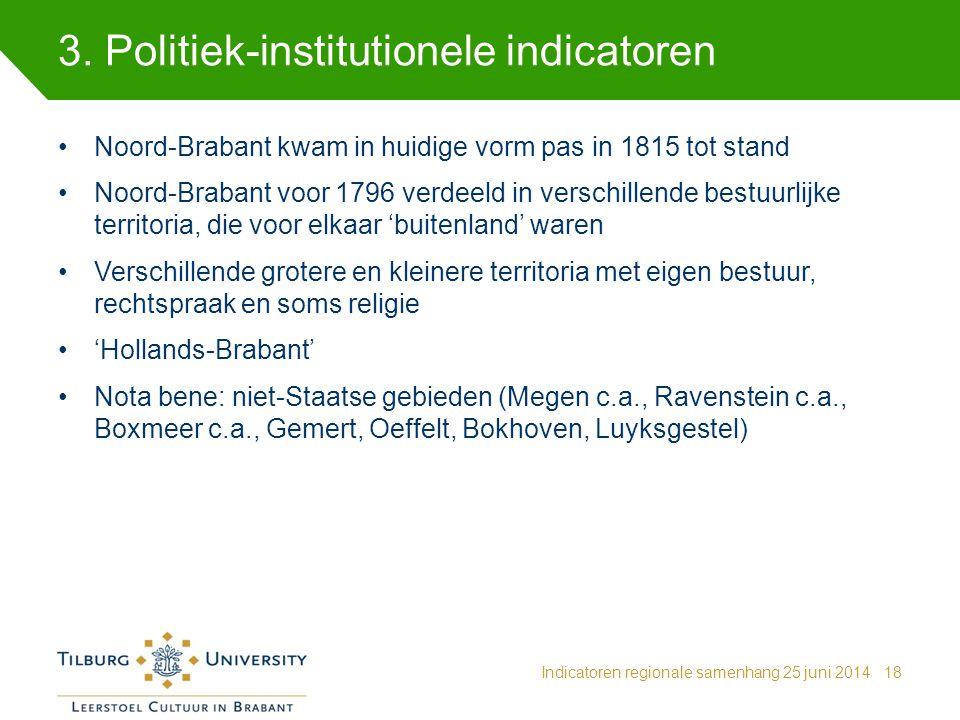 3. Politiek-institutionele indicatoren