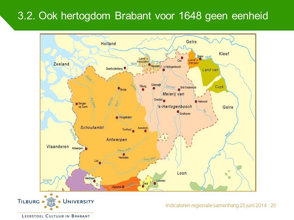 3.2. Ook hertogdom Brabant voor 1648 geen eenheid
