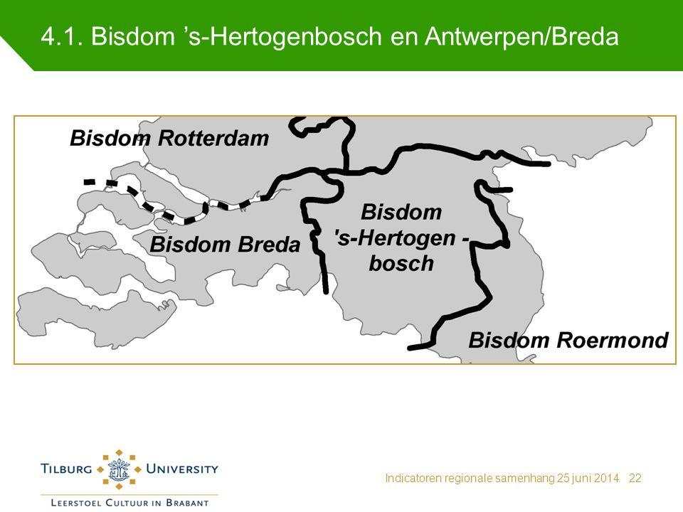 4.1. Bisdom 's-Hertogenbosch en Antwerpen/Breda