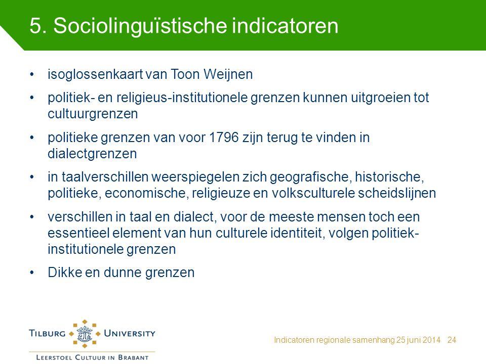 5. Sociolinguïstische indicatoren
