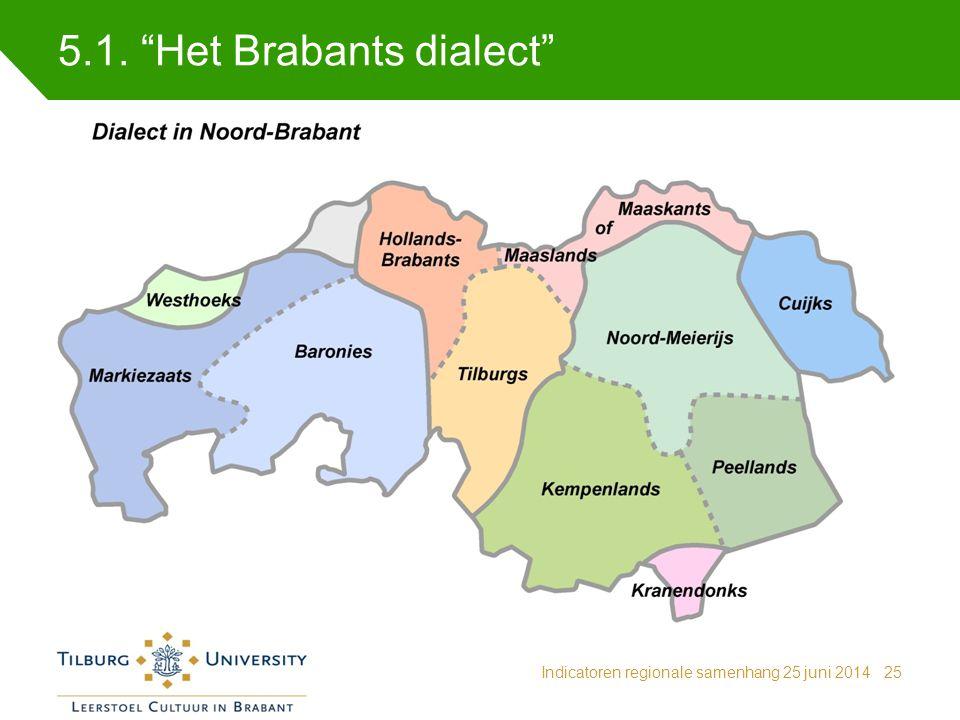 5.1. Het Brabants dialect