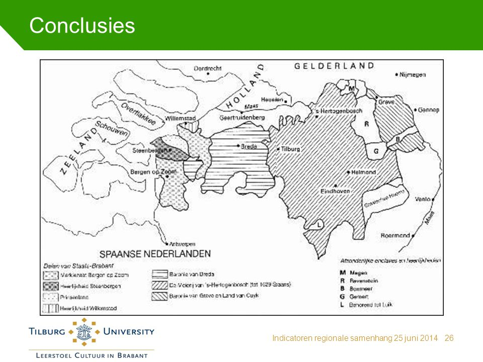 Conclusies Indicatoren regionale samenhang 25 juni 2014
