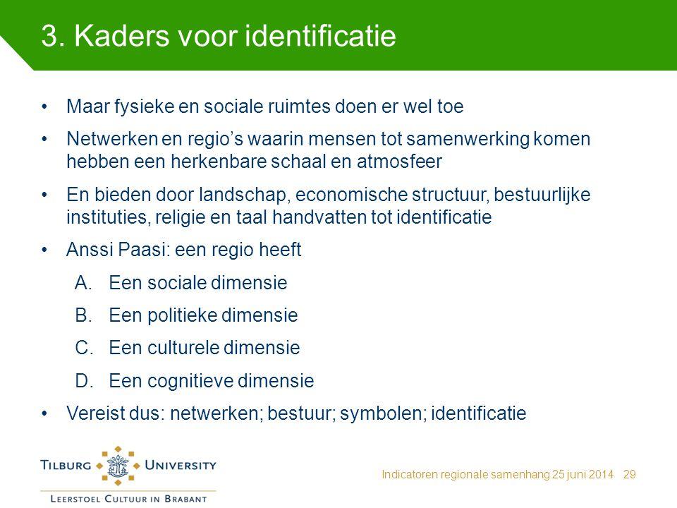 3. Kaders voor identificatie