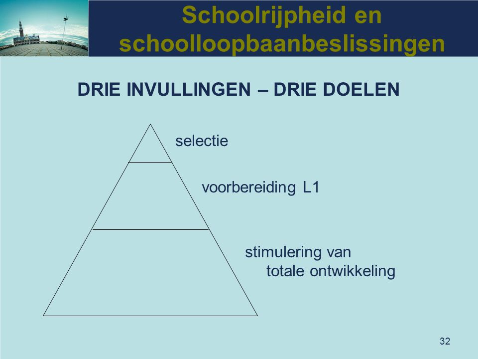 Schoolrijpheid en schoolloopbaanbeslissingen