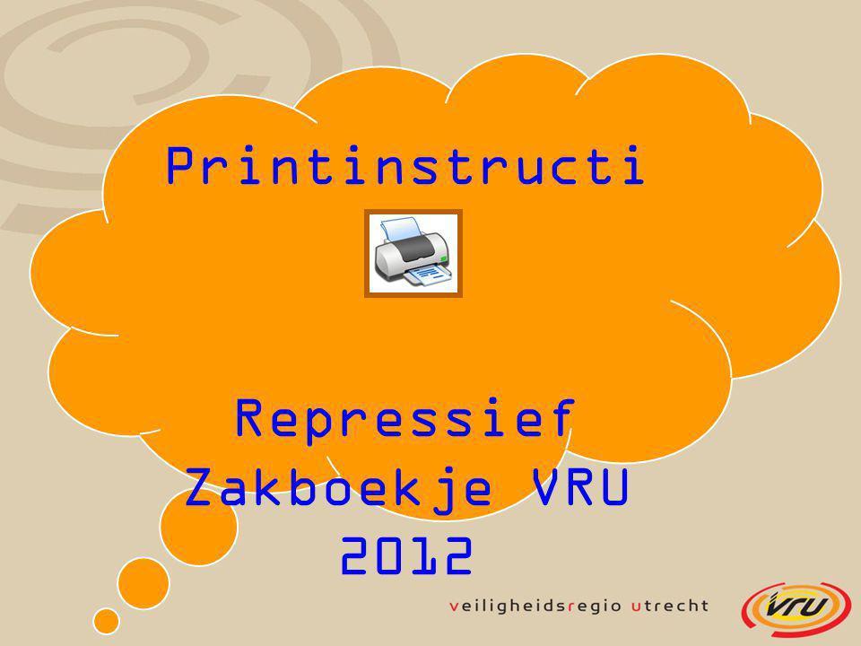 Repressief Zakboekje VRU 2012
