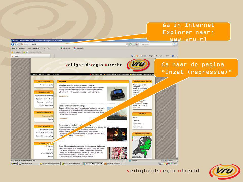 Ga in Internet Explorer naar: