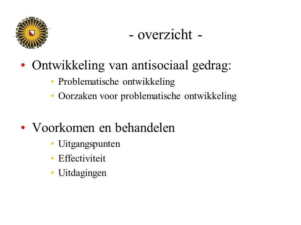 - overzicht - Ontwikkeling van antisociaal gedrag: