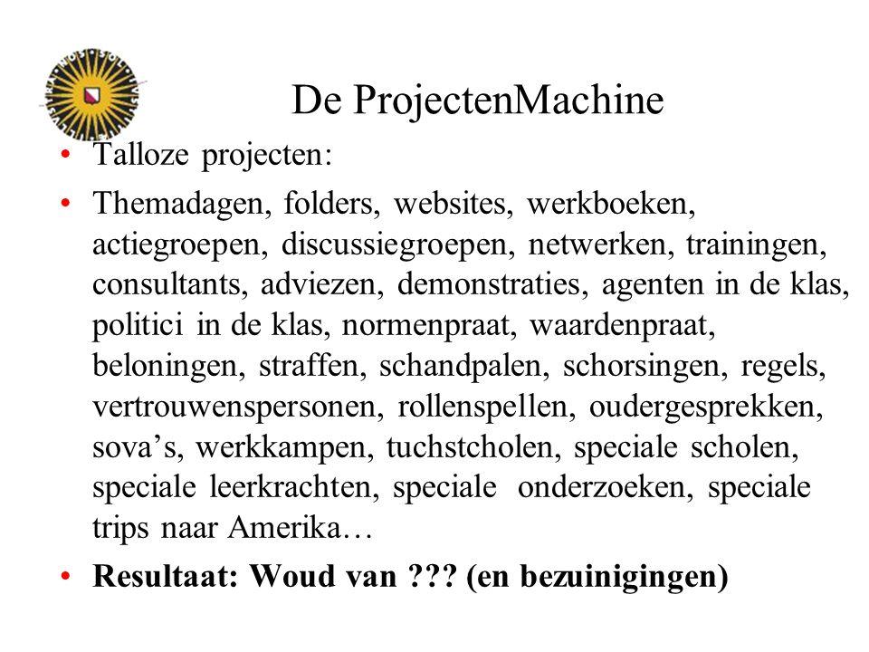 De ProjectenMachine Talloze projecten: