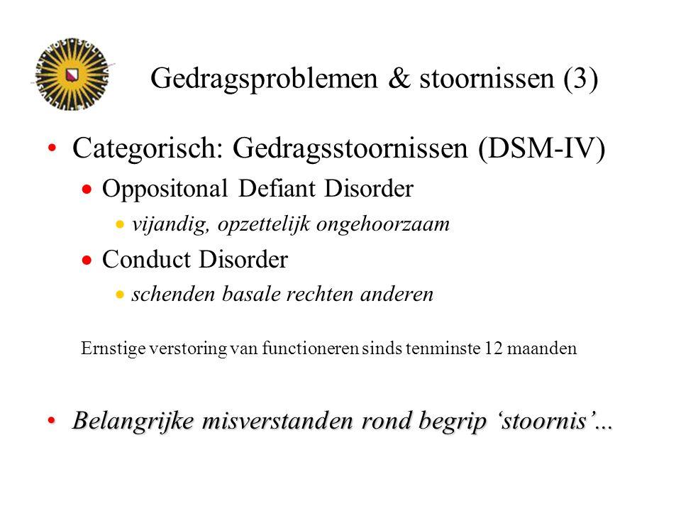Gedragsproblemen & stoornissen (3)