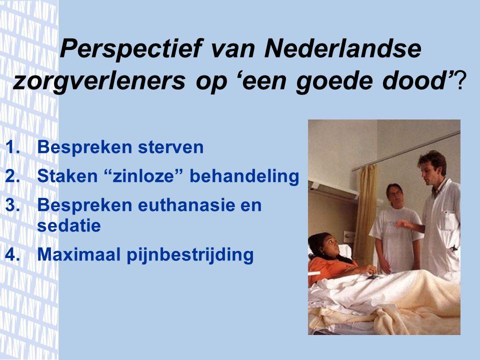 Perspectief van Nederlandse zorgverleners op 'een goede dood'