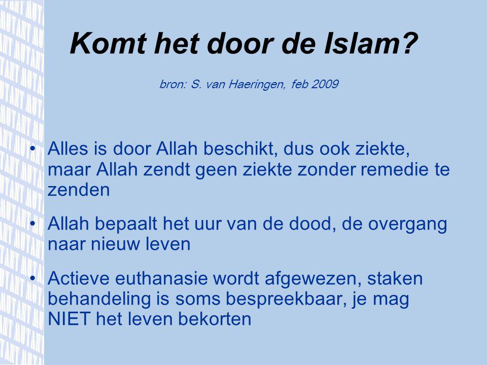Komt het door de Islam bron: S. van Haeringen, feb 2009