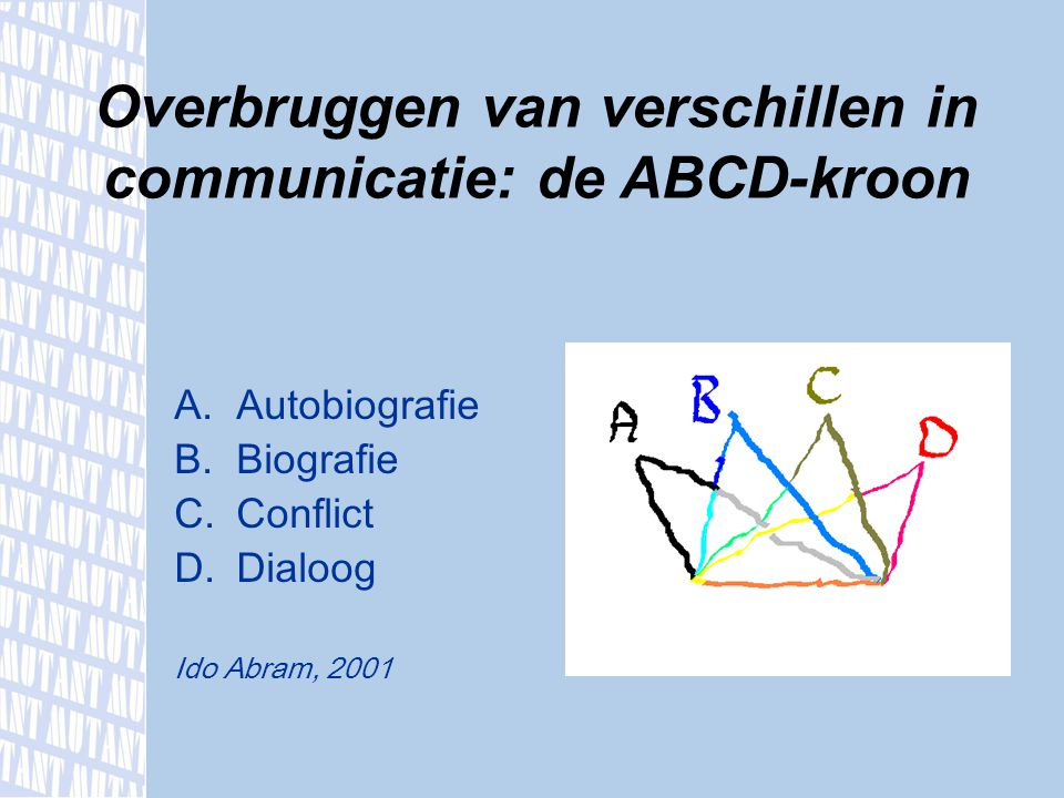 Overbruggen van verschillen in communicatie: de ABCD-kroon