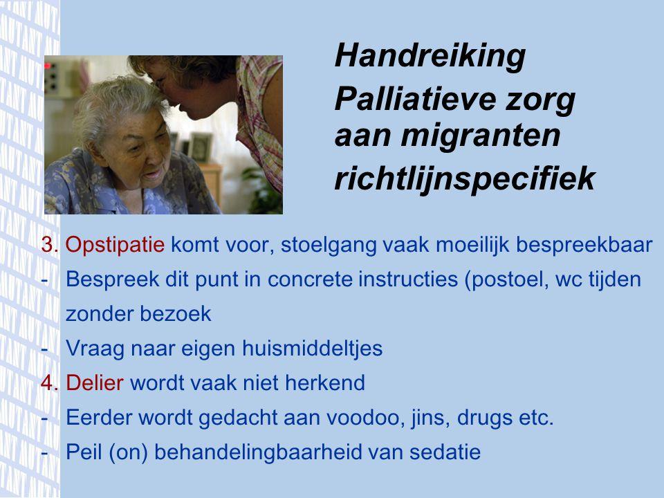 Palliatieve zorg aan migranten richtlijnspecifiek