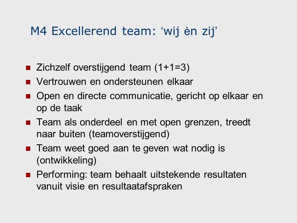M4 Excellerend team: 'wij èn zij'