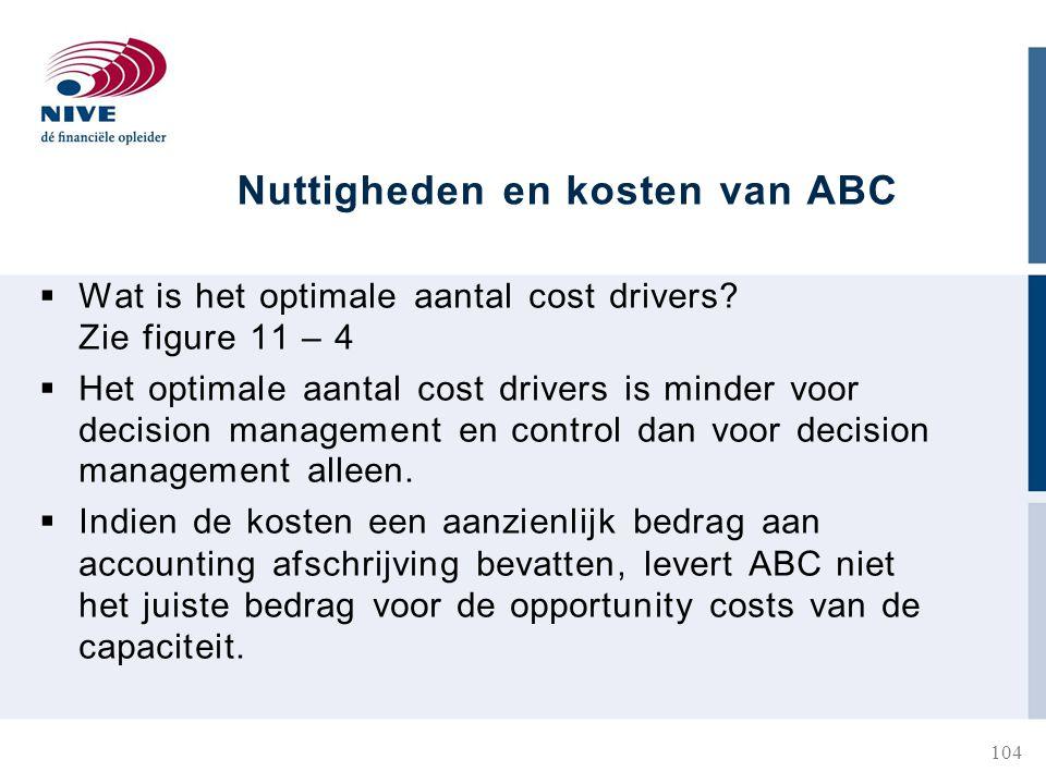 Nuttigheden en kosten van ABC