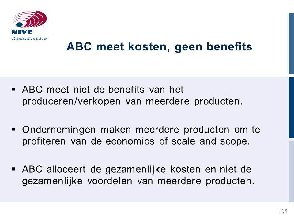 ABC meet kosten, geen benefits