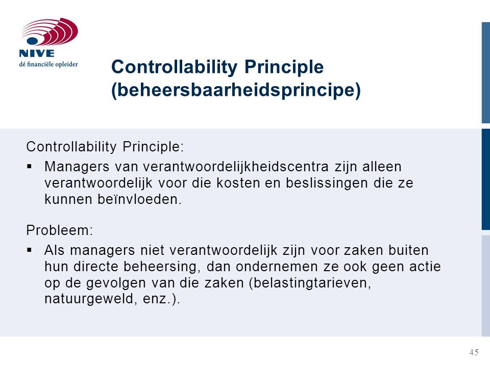 Controllability Principle (beheersbaarheidsprincipe)