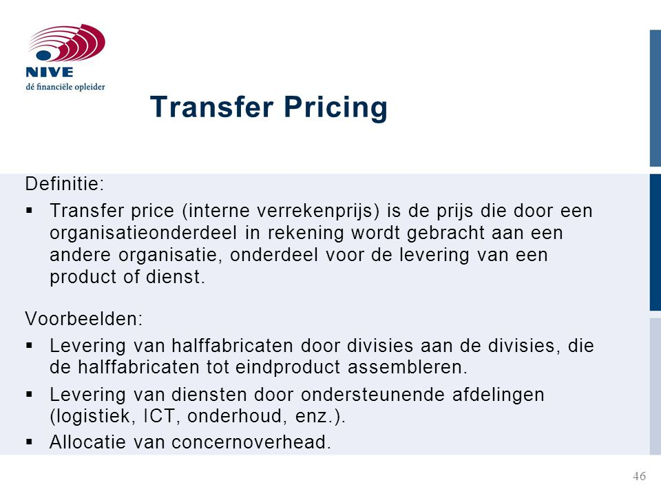 Transfer Pricing Definitie: