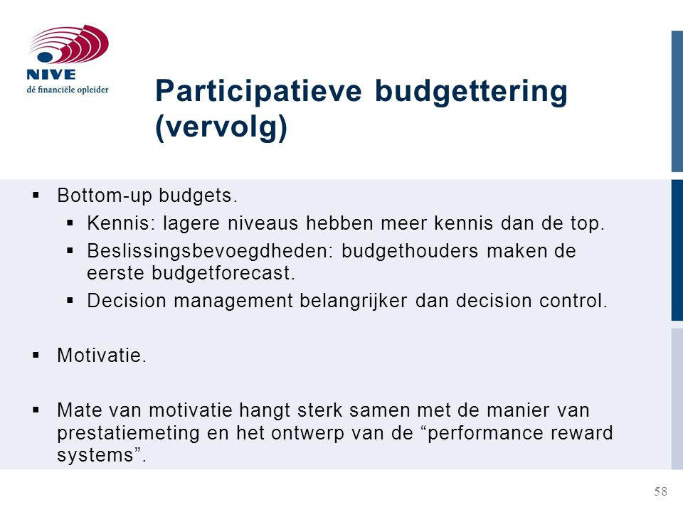 Participatieve budgettering (vervolg)