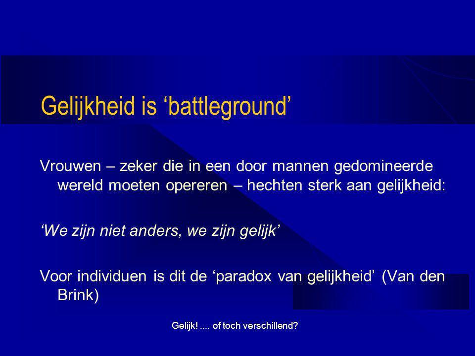 Gelijkheid is 'battleground'