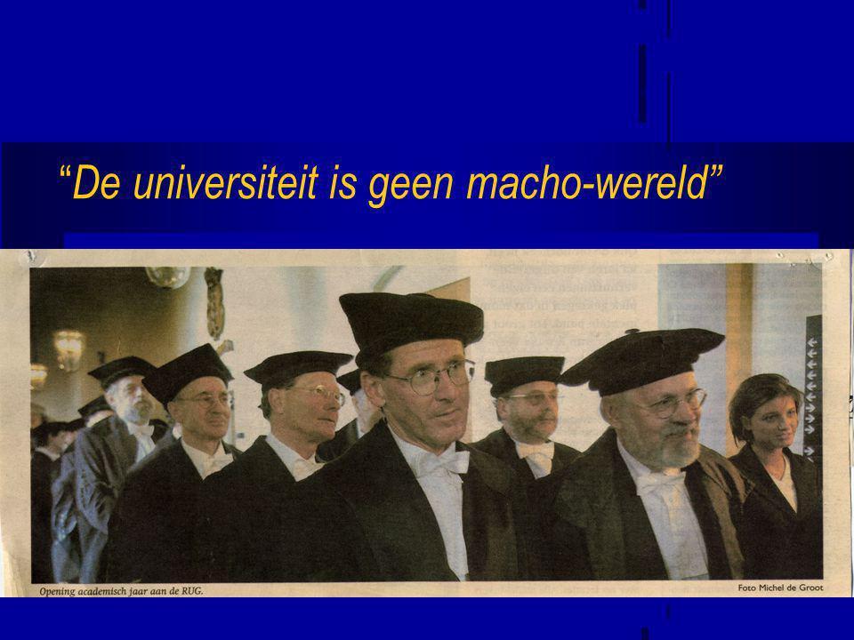 De universiteit is geen macho-wereld