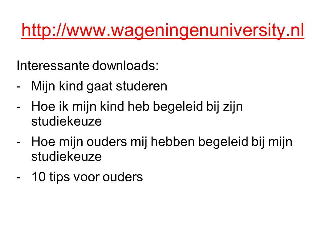 http://www.wageningenuniversity.nl Interessante downloads: