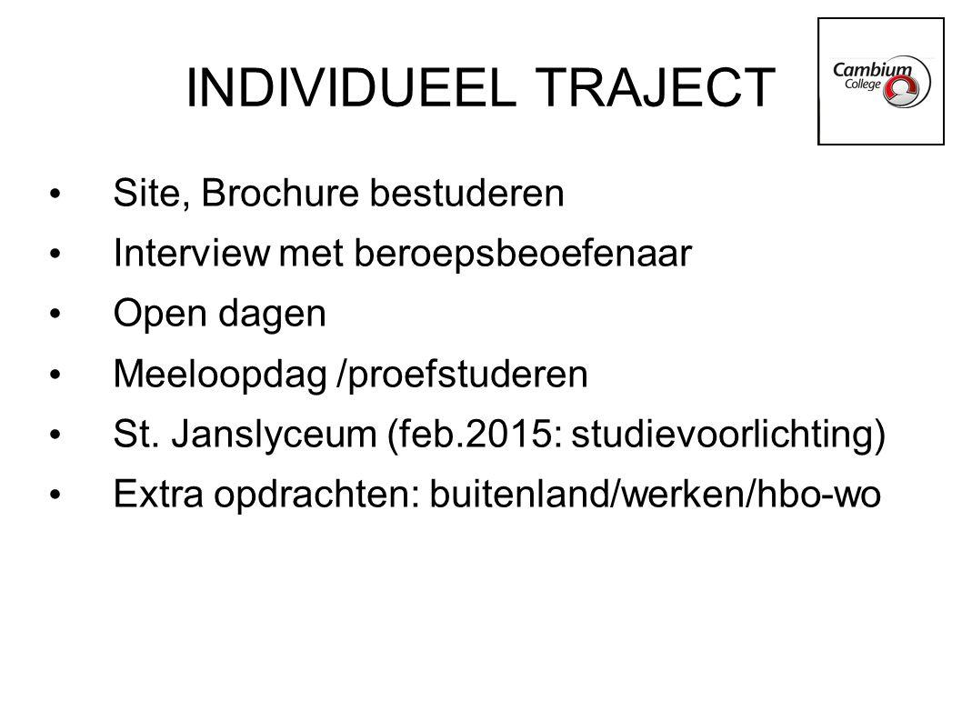 INDIVIDUEEL TRAJECT Site, Brochure bestuderen