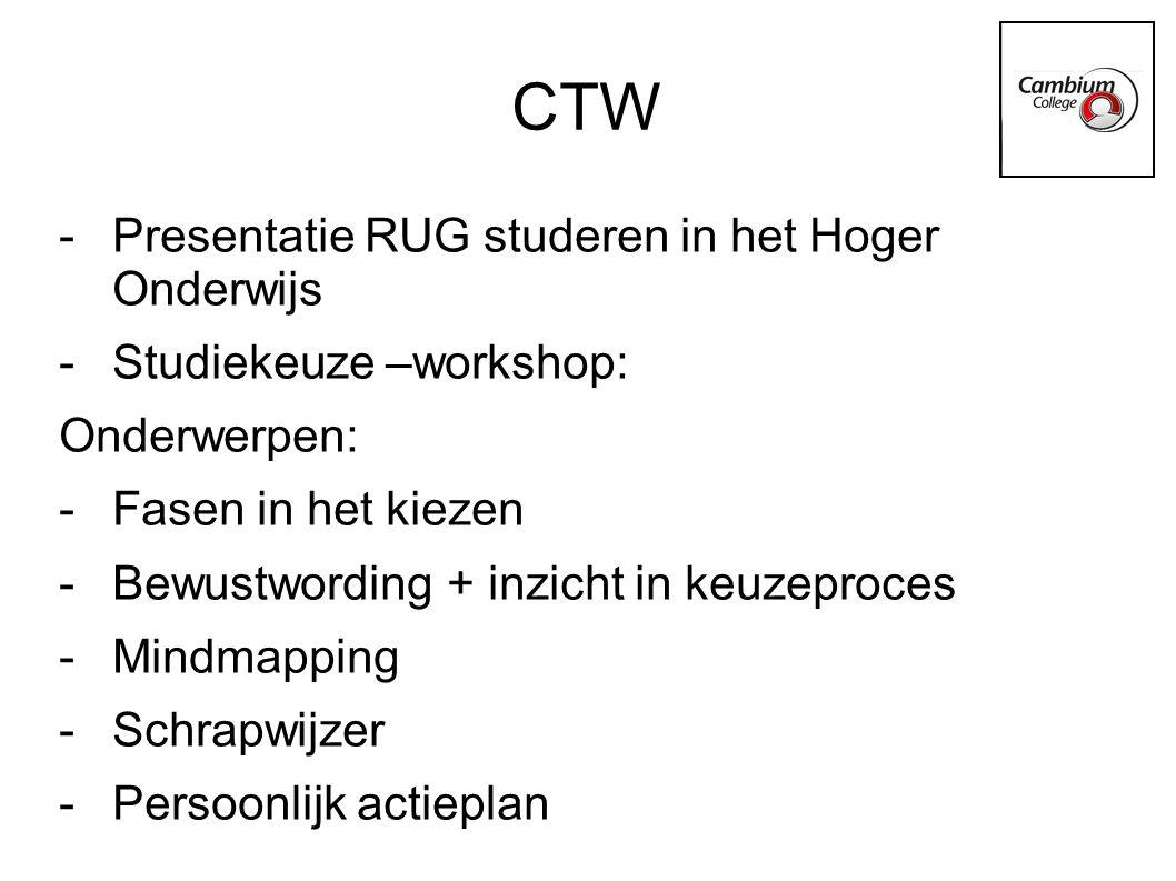 CTW Presentatie RUG studeren in het Hoger Onderwijs