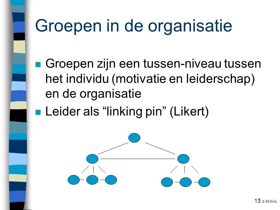 Groepen in de organisatie